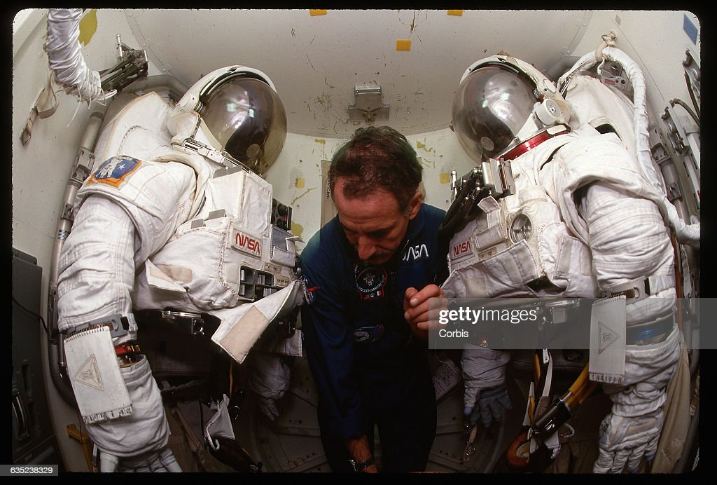 Astronaut Between Two Space Suits Pictures Getty Images - Houston location in usa