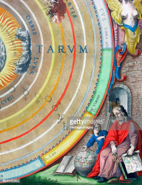 An astronomer detail from a map of the planets 16601661 From The Celestial Atlas or The Harmony of the Universe by Andreas Cellarius published by...