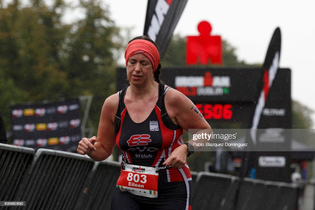 An athlete competes during the run leg of IRONMAN 70.3 Dublin on August 20, 2017 in Dublin, Ireland.