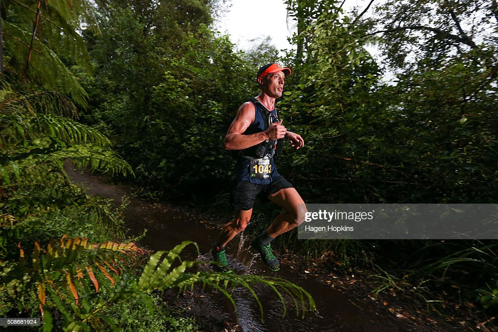 An athlete competes during the Tarawera Ultramarathon on February 6, 2016 in Rotorua, New Zealand.