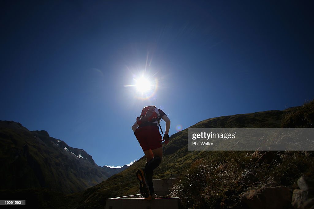 An athlete competes in the 2013 Speights Coast to Coast on February 8, 2013 in Christchurch, New Zealand.