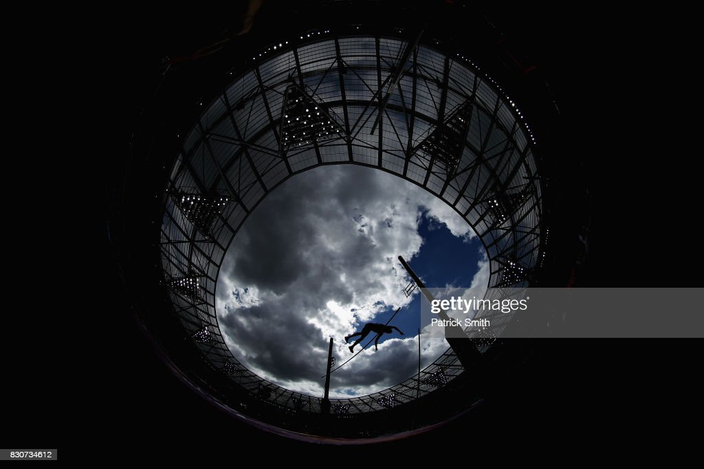 An athlete competes in the Men's Decathlon Pole Vault during day nine of the 16th IAAF World Athletics Championships London 2017 at The London Stadium on August 12, 2017 in London, United Kingdom.