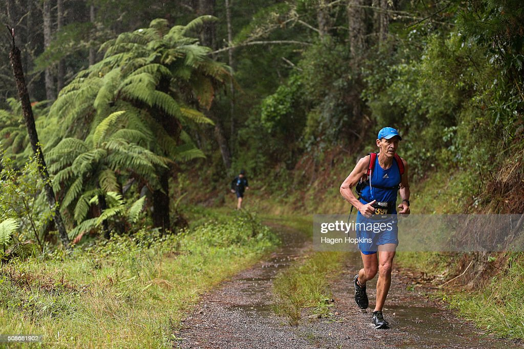 An athlete competes in the Tarawera Ultramarathon on February 6, 2016 in Rotorua, New Zealand.