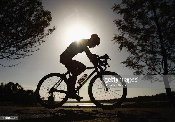An athlete competes in the Women's Triathlon during day three of the Australian Youth Olympic Festival at Sydney International Regatta Centre Penrith...