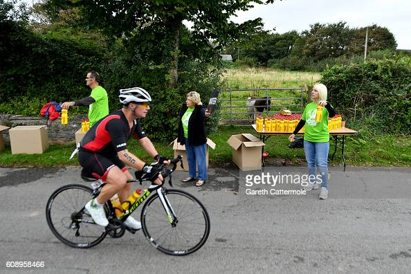 An athlete in action during Ironman Wales on September 18 2016 in Pembroke Wales
