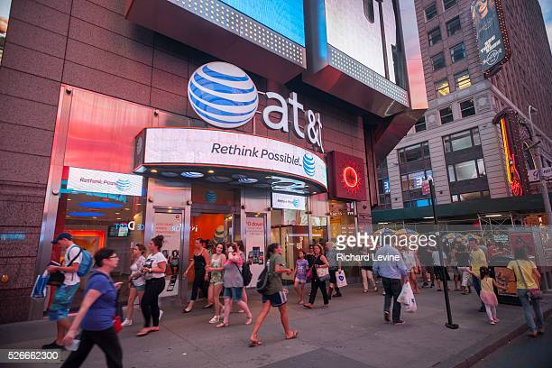 An ATT cell phone store seen in Times Square in New York on Tuesday July 8 2014 ATT announced that it will cease offering twoyear contracts to...