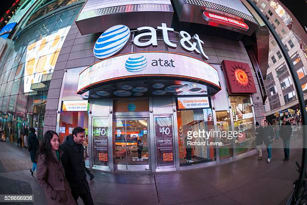 An ATT cell phone store seen in Times Square in New York on Tuesday January 26 2016 ATT announced that it had added 28 million customers in its...