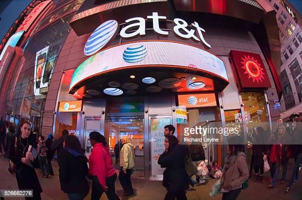 An ATT cell phone store seen in Times Square in New York on Wednesday November 23 2011 ATT announced that it will cease offering twoyear contracts to...