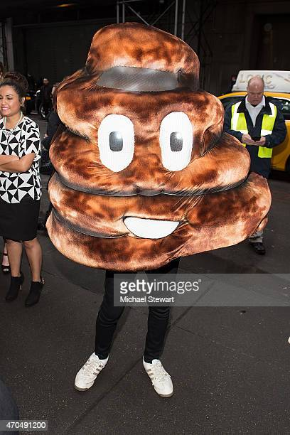 An attendee dressed as the poop emoji the 2015 Shorty Awards at TheTimesCenter on April 20 2015 in New York City