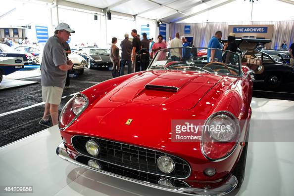 Inside the pebble beach concours d 39 elegance classic car show photos and images getty images - Pebble beach car show ...