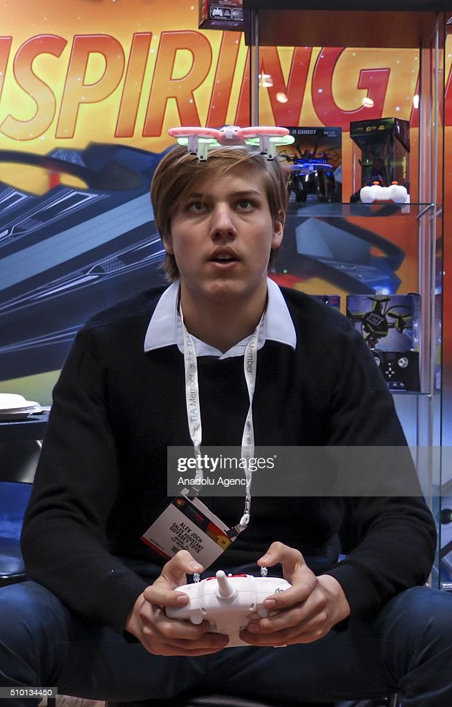 An attendee plays a game at New York's Javits Center on February 13, 2016, during the 113rd Annual American International Toy Fair New York 2016 starting on February 13 and ending on February 16. More than 200 companies from 100 countries have opened stands in the fair.