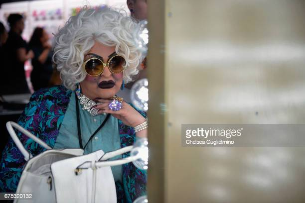 An attendee seen during the 3rd Annual RuPaul's DragCon day 2 at Los Angeles Convention Center on April 30 2017 in Los Angeles California