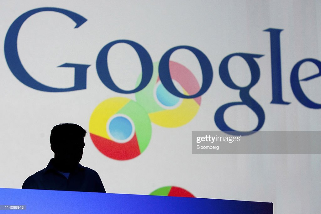 An attendee take a seat before a keynote address at the Google I/O conference in San Francisco, California, U.S., on Wednesday, May 11, 2011. Google Inc.'s new Chromebook line of laptops, manufactured by Samsung Electronics Co. and Acer Inc., will go on sale next month, furthering the company's push into computer hardware. Photographer: David Paul Morris/Bloomberg via Getty Images