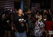 An attendee wears a shirt reading 'We Are Orlando' after a campaign event for Hillary Clinton presumptive 2016 Democratic presidential nominee not...