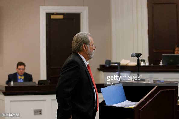 An attorney for the prosecution speaks during the murder trial of former North Charleston police officer Michael Slager at the Charleston County...