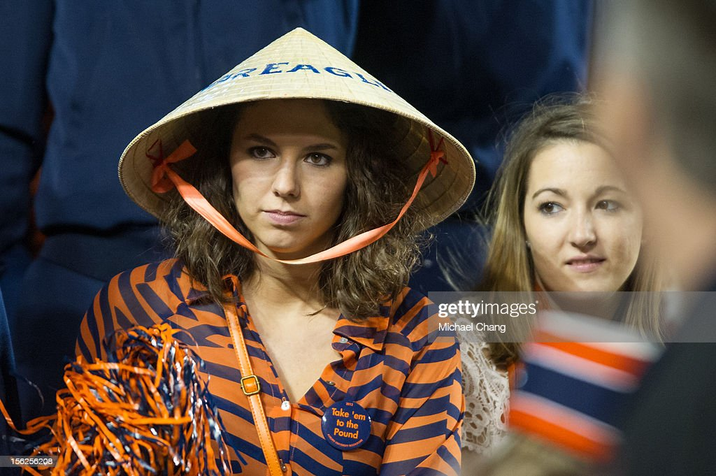 An Auburn fan dresses up for their game against the Georgia Bulldogs on November 10, 2012 at Jordan-Hare Stadium in Auburn, Alabama. Georgia defeated Auburn 38-0 and clinched the SEC East division.