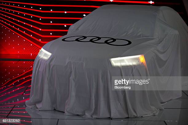 An Audi AG SQ5 vehicle sits on display before being unveiled during the 2017 North American International Auto Show in Detroit Michigan US on Monday...