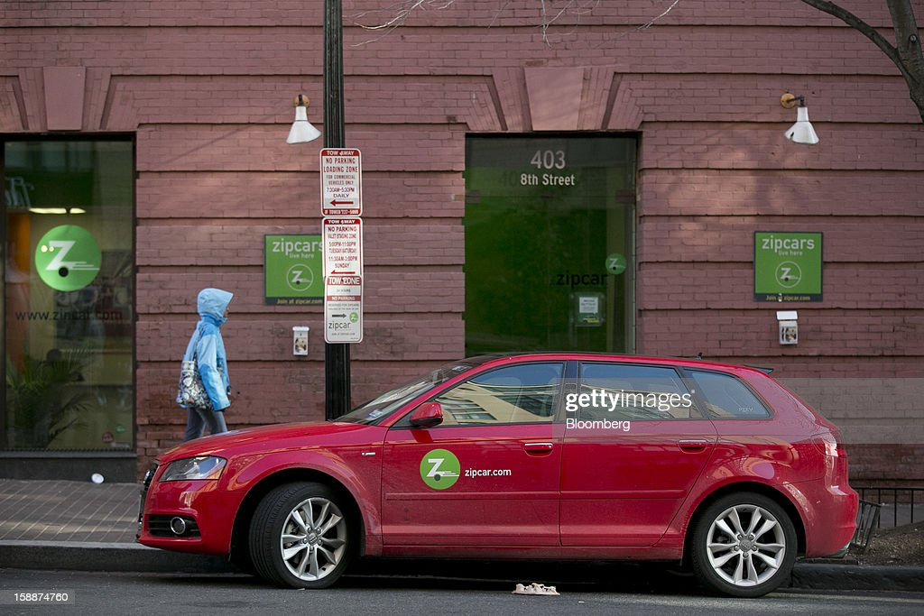 An Audi AG Zipcar Inc. vehicle sits parked in one of the company's spaces in Washington, D.C., U.S., on Wednesday, Jan. 2, 2013. Avis Budget Group Inc., once a skeptic about car sharing services, agreed to buy short-term rental pioneer Zipcar for $491 million, signaling a shift in the industry to embracing drivers who don't want to own cars. Photographer: Andrew Harrer/Bloomberg via Getty Images