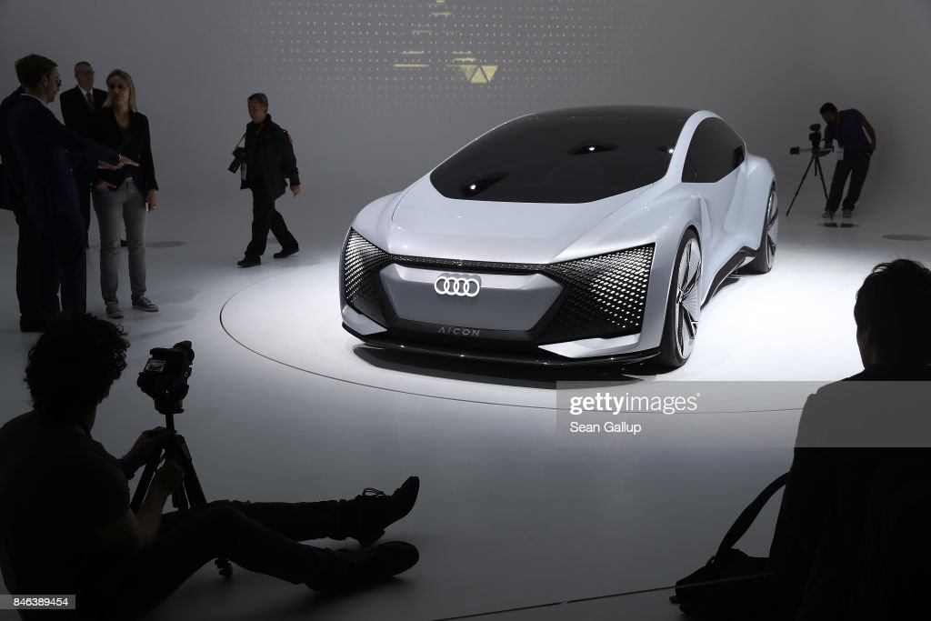 An Audi Aicon autonomous electric concept car stands at the 2017 Frankfurt Auto Show on September 13, 2017 in Frankfurt am Main, Germany. The Frankfurt Auto Show is taking place during a turbulent period for the auto industry. Leading companies have been rocked by the self-inflicted diesel emissions scandal. At the same time the industry is on the verge of a new era as automakers commit themselves more and more to a future that will one day be dominated by electric cars.
