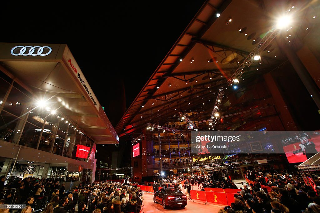 An Audi car arrives as Wim Wenders and Donata Wenders attend the 'Every Thing Will Be Fine' premiere during the 65th Berlinale International Film...