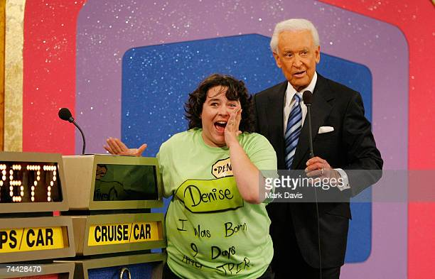 An audience member reacts as television host Bob Barker presents during his last taping of 'The Price is Right' show held at the CBS television city...