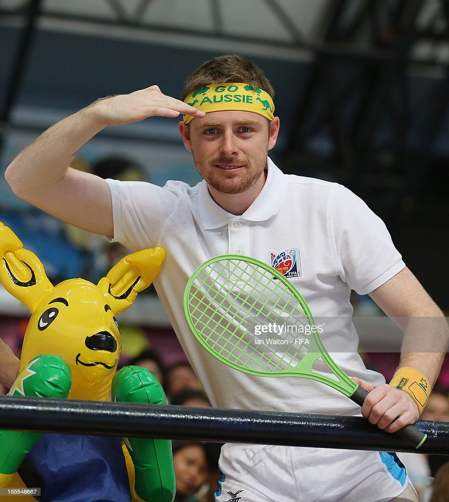 An Australian fan shows his support during the FIFA Futsal World Cup Thailand 2012, Group D match between Australia and Mexico at Nimibutr Stadium on November 5, 2012 in Bangkok, Thailand.