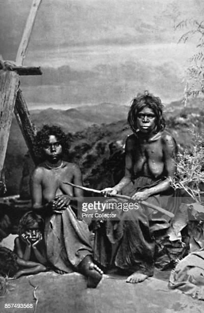 An Australian woman and her children 1902 From The Living Races of Mankind Vol I [Hutchinson Co London 1902] Artist W Lindt