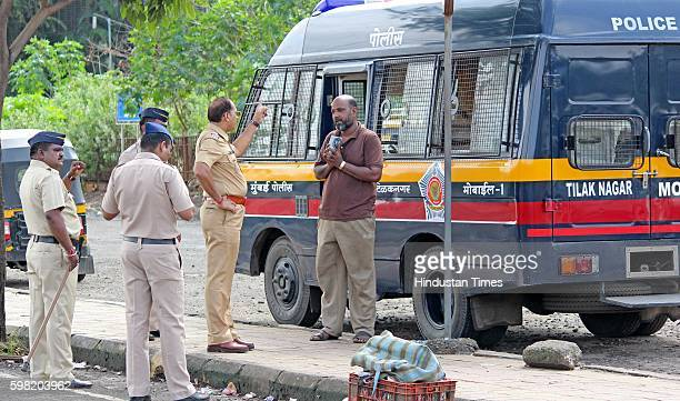An auto driver arrested during the protest against cab aggregators such as Uber and Ola at Lokmanya Tilak Terminus railway station on August 31 2016...