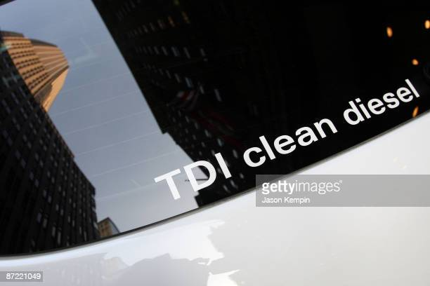 An auto is parked at the Audi Q7 TDI clean diesel and Point Honors Event at Roosevelt Hotel on April 27 2009 in New York City