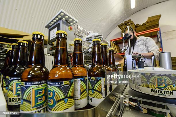 An automated label application machine labels Reliance Pale Ale and replaces the previous hand application method at inner city craft beer makers...