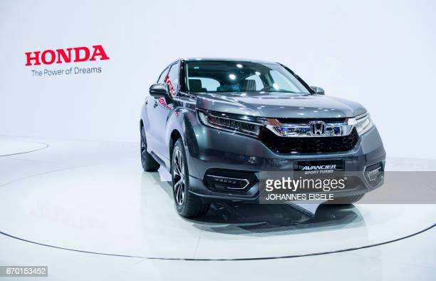 An Avancier Sport Turbo car from Japanese car maker Honda is pictured during the first day of the 17th Shanghai International Automobile Industry...