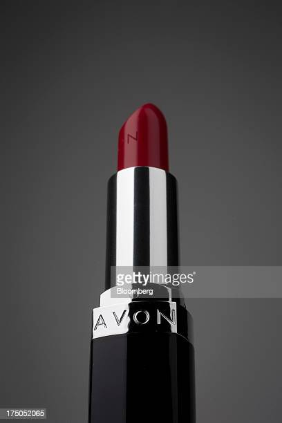 An Avon Products Inc lipstick is arranged for a photograph in New York US on Tuesday July 30 2013 Avon Products Inc the doortodoor cosmetics retailer...