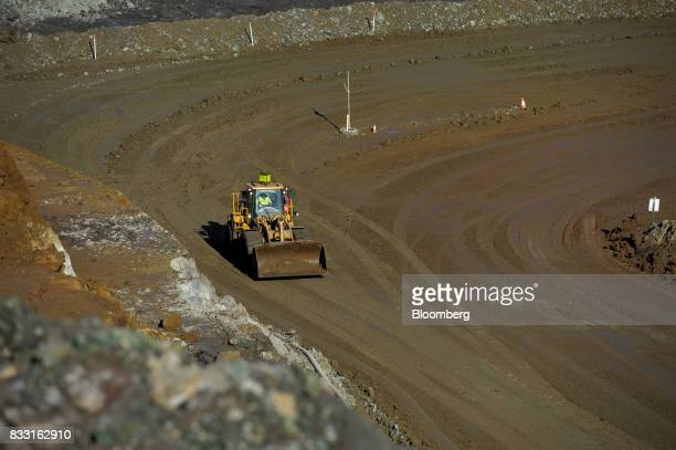 An bulldozer operates in the Neptune open pit mine at the St Ives Gold Mine operated by Gold Fields Ltd in Kambalda Australia on Wednesday Aug 9 2017...