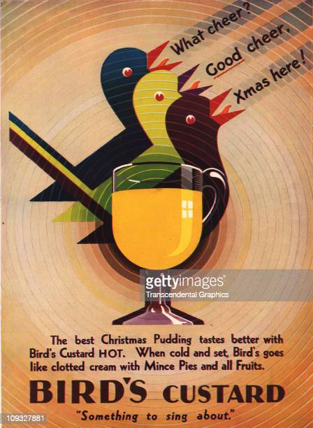 NEW YORK An Christmastime art deco advertising design for Bird's Custard appears in The Poster magazine from New York an insert in a 1927 issue