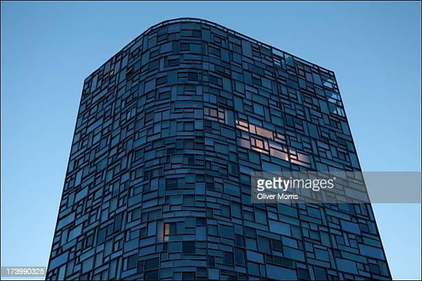 An early evening view of architect Jean Nouvel's residential tower Design For Living Lower Manhattan New York June 22 2013