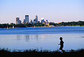 An early morning jog around Lake Calhoun - Minneapolis-St Paul, Minnesota