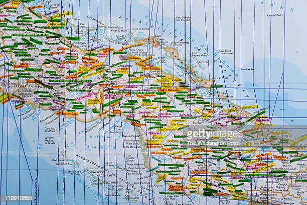 An early version of the new National Geographic map of Cuba Juan Valdes who is The Geographer for National Geographic and Director of Editorial and...