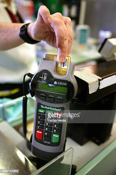 An Eftpos terminal at a Woolworths supermarket 31 May 2005 AFR Picture by JIM RICE