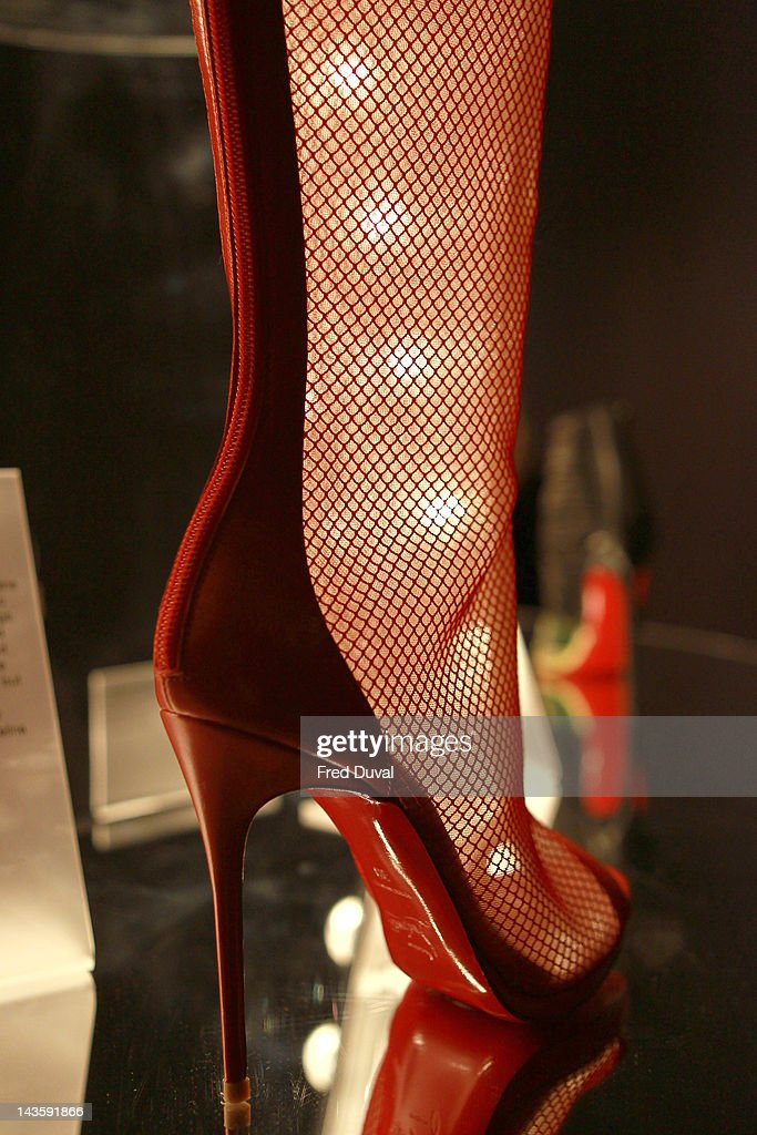An ehibit on display during a preview of an exhibition celebrating 20 years of designs by French shoe designer Christian Louboutin at the Design Museum on April 30, 2012 in London, England.