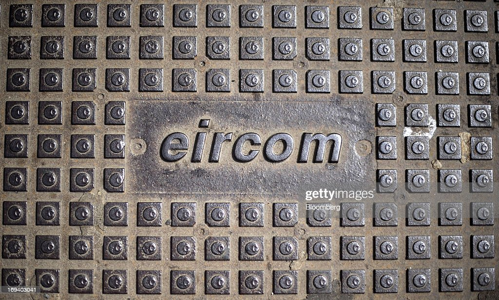 An Eircom Group logo sits on a metal manhole cover in Dublin, Ireland, on Thursday, May 23, 2013. Eircom Group, which has changed ownership six times since 1999, 'would like to be consolidators rather than consolidated' amid expected mergers and acquisitions in the Irish telecoms market, its Chief Financial Officer Richard Moat said. Photographer: Aidan Crawley/Bloomberg via Getty Images