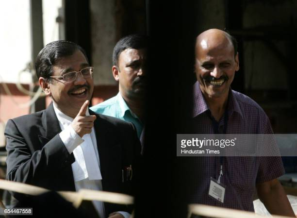 An elated special public prosecutor Ujwal Nikam as he walks out of the special court that conducts trial against the sole surviving gunman Mohammed...