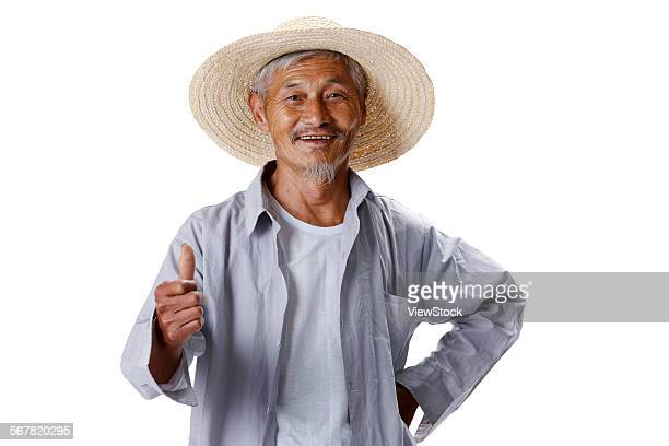 An elderly farmer