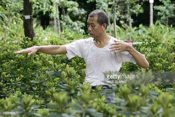 An elderly resident practices Tai Chi in a park in Hong Kong 28 June 2005 Despite wosening pollution rising costs and political turmoil the quality...