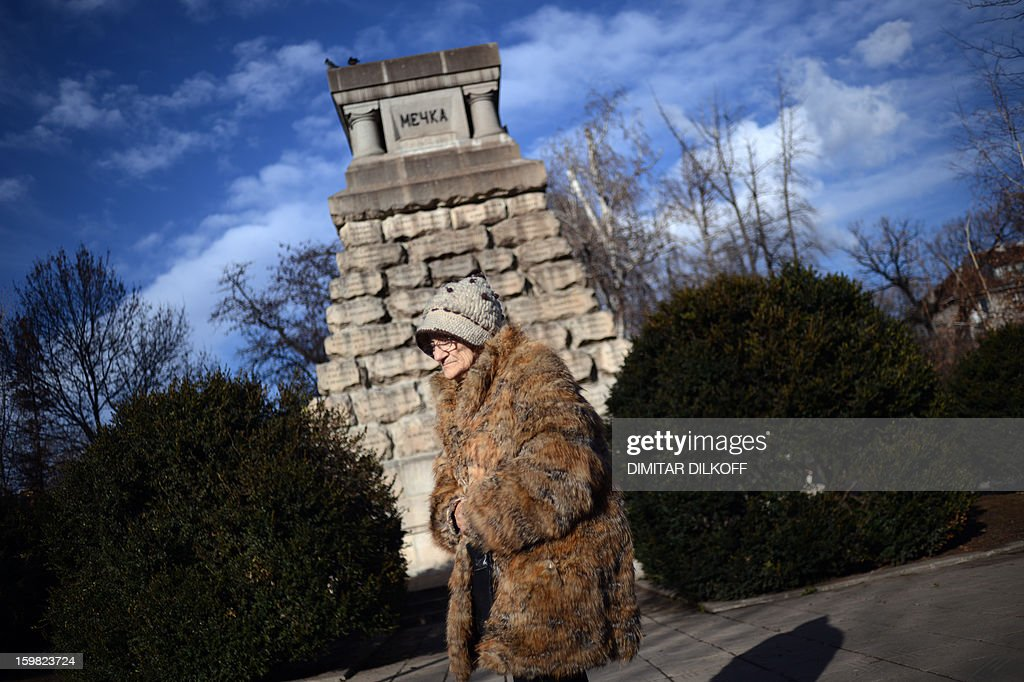 An elderly woman enjoys the unusually warm weather in a park in downtown Sofia during wintertime on January 21, 2013. Temperatures in the Bulgarian capital rose to 16 degrees Celsius, with mercury shooting up to a record 19 degrees Celsius on the Black Sea southern coast.