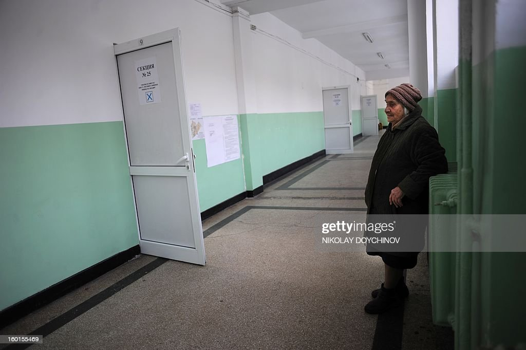 An elderly woman rests after casting her vote in a polling station during the national referendum in Sofia on January 27, 2013. Bulgarians voted Sunday on whether to revive plans ditched by the government to construct a second nuclear power plant, in the EU member's first referendum since communism. The referendum asks 6.9 million eligible voters: 'Should Bulgaria develop nuclear energy by constructing a new nuclear power plant?' AFP PHOTO / NIKOLAY DOYCHINOV