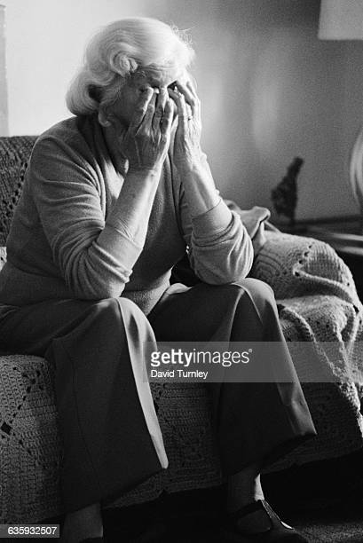 An elderly woman rubs the tears from her eyes in the Detroit neighborhood of Poletown The neighborhood is being razed to make room for a General...