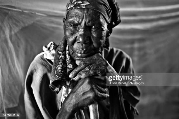 An elderly woman waits to be treated in the Goal clinic in Ballieta village along the Sobat River in the Greater Upper Nile region of northeastern...