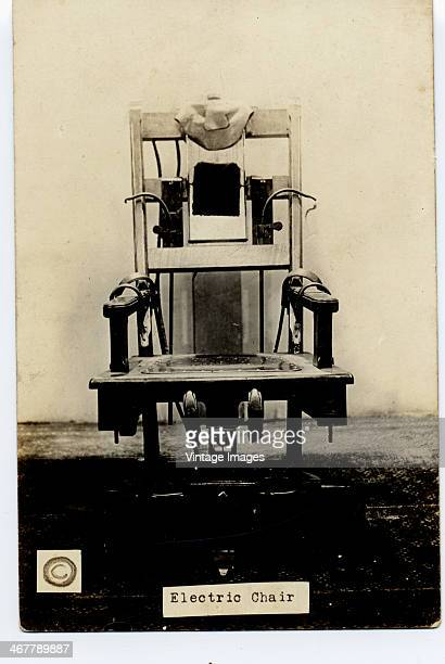 An electric chair USA circa 1910