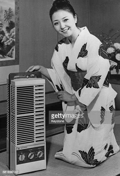 An electric fan designed to resemble a Japanese lantern made by the Matsushita Electric Company Japan 24th March 1972 The fans sell for 19900 yen