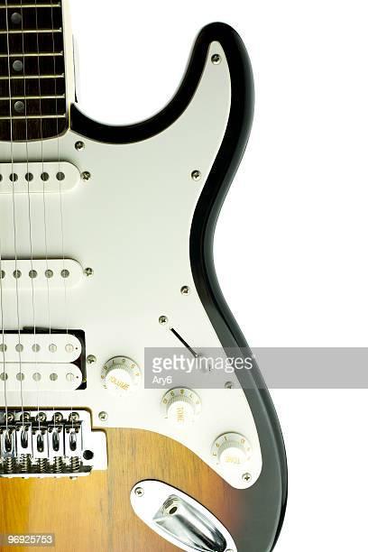 Guitare électrique sur blanc bacground